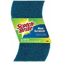 Scotch Brite No Scratch Scour Pads, 3 Pack