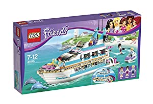 LEGO® Friends Dolphin Cruiser Yacht with Minifigures Mia, Maya, & Andrew | 41015