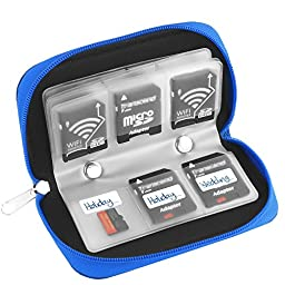 Simtyso® Micro SD Memory Card Carrying Case in Blue Color