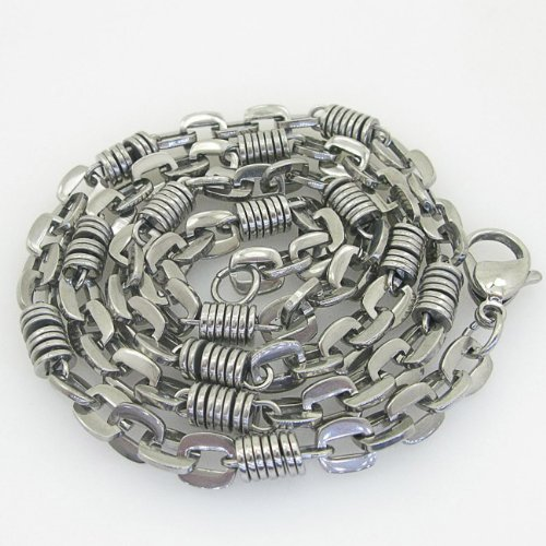 Mens 316L Stainless steel franco box ball wheat curb popcorn rope fancy chain fancy hand made link chain fancy hand made link chain