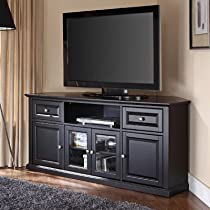 "Hot Sale Crosley Furniture 60"" Corner TV Stand in Black"