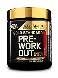 Optimum Nutrition Gold Standard Pre-Workout, Fruit Punch, 30 Servings, 300 grams