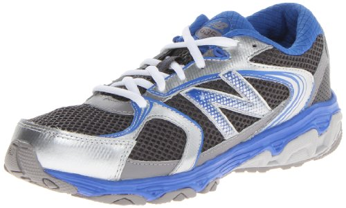 New Balance Kj635 Running Shoe (Little Kid/Big Kid),Silver/Blue,2 M Us Little Kid