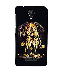 Lord Krishna and Radha 3D Hard Polycarbonate Designer Back Case Cover for Micromax Canvas Spark Q380