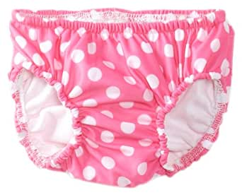 Flap Happy Baby Girls' UPF 50+ Swim Diaper with Ruffles, Candy Punch, 24 Months