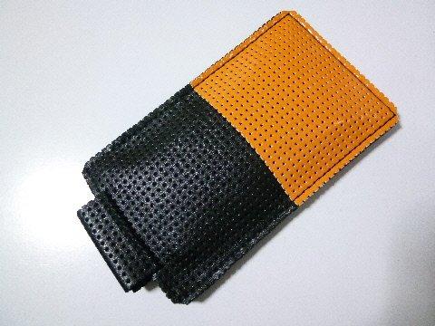スマートフォンケースIシリーズURoad-Aero対応ちょこっとプレミアムブラックオレンジ