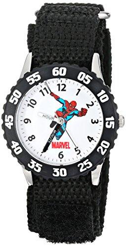 Marvel Kid's Spider-Man Stainless Steel Time Teacher Watch -