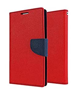 small candy Mercury Flip Cover For HTC Desire 516 -Red