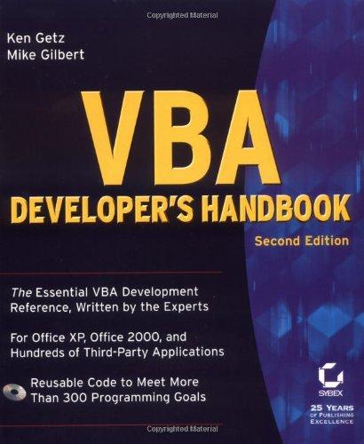 VBA Developer's Handbook, 2nd Edition
