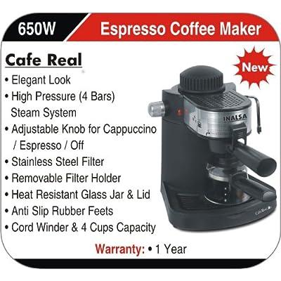 Inalsa Café Real 650-Watt Espresso Coffee Maker