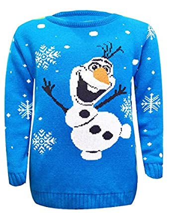 Olaf Christmas Jumper Knitting Pattern : Kids Unisex Boys&Girls Olaf Frozen Reindeer Knitted Christmas Xmas Sweate...