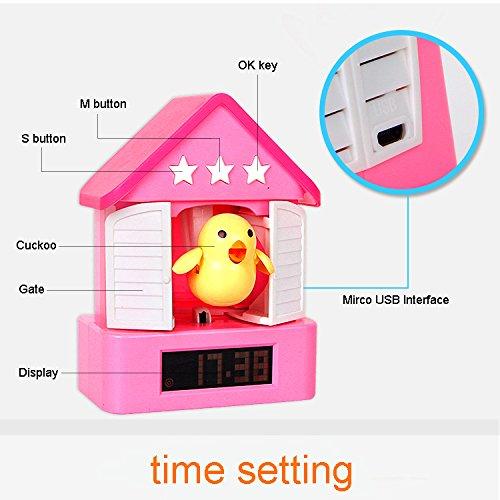 js1312n modern led digital display cuckoo creative toy alarm clocks for kids heart shape stick. Black Bedroom Furniture Sets. Home Design Ideas