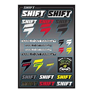 Shift Racing Standard Sticker Sheet Motocross Motorcycle Graphic Kit Accessories - One Size