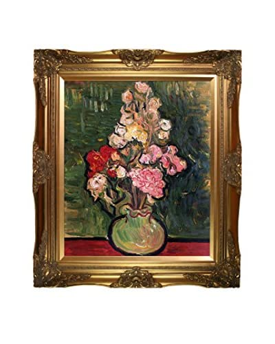 Vincent van Gogh Still Life Vase With Rose-Mallows Framed Hand-Painted Oil Reproduction