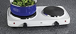 Maxi-Matic EDB-302F Elite Cuisine Dual Temperature Double Burner 1500-Watt Hot Plate,... by Maximatic