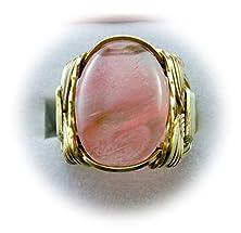 buy Cherry Quartz Gemstone 14K Gold Gf 6Mm Wide Band Ring Us Ring Size 5 - 14