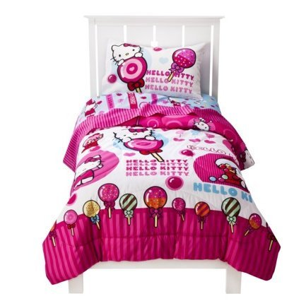 cheap hello kitty sweet scents comforter and sheet set twin twin