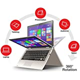 2016 Newest Toshiba Satellite Radius 11.6 2-in-1 Touchscreen Convertible Laptop PC, Intel Pentium N3540 Processor, 4GB RAM, 128GB SSD, Webcam, HDMI, Bluetooth, Windows 8.1, Windows 10