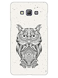 Justgirlythings Hand Drawn Hooter Owl Hard Back Case Cover For Samsung A5 Matte Finish
