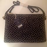 Jack Wills Black Dot Elmley clutch bag