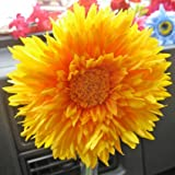 Clip Bud Vase with YELLOW Tess Gerbera VW Mini Fiat Bongo