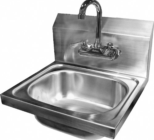 "Why Choose ACE Stainless Steel Wall Mount Hand Sink with Faucet and Strainer 15-3/4"" W x 15&quo..."
