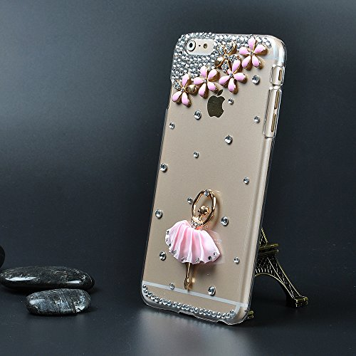 For Iphone 6 Plus Case,Ic Iclover Perfect-Fit Iphone 6 Plus 5.5 Case, 3D Crystal Rhinestone Diamond Bling Bumper Skin Case Glitter Hard Case Cover For 5.5 Inch Iphone 6 Plus Protect Case-Ballet