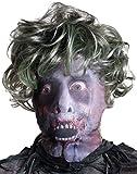 Máscara zombie con peluca adulto Halloween