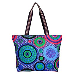Anekaant Whimsical Blue Canvas Tote Bag