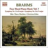 ブラームス:4手のためのピアノ作品集 7(交響曲第2番, 第3番)