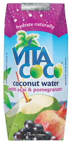 Vita Coco Coconut Water with Acai & Pomegranate, 11.2 Ounce Boxes (Pack of 12)