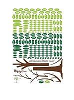 Ambiance Live Vinilo Decorativo Happy Tree Multicolor