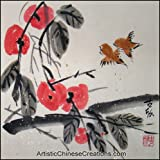 Original Chinese Painting - Traditional Chinese Paintings: Chinese Brush Painting - Happy Couple