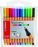 Stabilo point 88 - Pochette 12 mini feutres d'écriture
