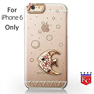 """iPhone 6 - Unique 3D Bling Crystal Diamond Stone Fish - Rhinestone Stone Fish Design for Girls. Transparent Hard Back Cover iPhone 6 - 4.7"""" (Fish)"""