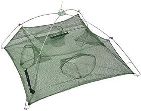Dimart 60cmx60cm Umbrella Design Four Entrance Crab Trap Cast Fishing Dip Net Green