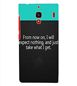 ColourCraft Quotes Back Case Cover for XIAOMI REDMI 1S