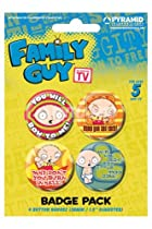 "Family Guy - Merchandise - 4 Piece Button / Pin Set (Stewie) (1.5"")"