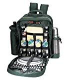 Sutherland Baskets SPB3029A1 Merrymaker Wine & Coffee Backpack for 4