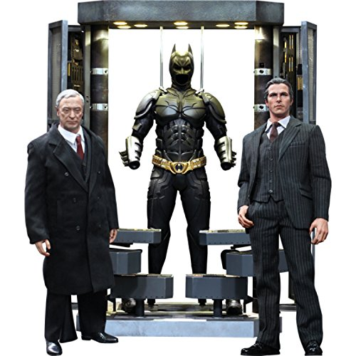 Batman The Dark Knight Movie Masterpiece Batman Armory With Bruce Wayne & Alfred Pennyworth 1:6 Collectible Figure Set (Hot Toys)