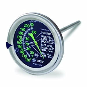 CDN IRM200-Glow ProAccurate Meat Poultry Ovenproof Thermometer by Component Design