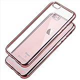 COOLOO iPhone6S ケース iPhone6 ケース iPhone6S plus TPUメッキ加工 超薄型耐衝撃 最軽量 一体型 耐久性が高い 電波影響無し 取り出し易い クリアタイプ TPU 透明 カバー アイフォン6s/6/plus対応 全五色(iPhone6 plus ローズゴールド)