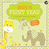 Baby's First Year Non-dated Keepsake Calendar with Stickers ECO FRIENDLY CALENDAR