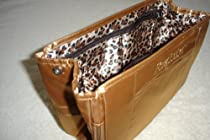 Pursefection Standard Size PURSE ORGANIZER - Tan w/Leopard Lining
