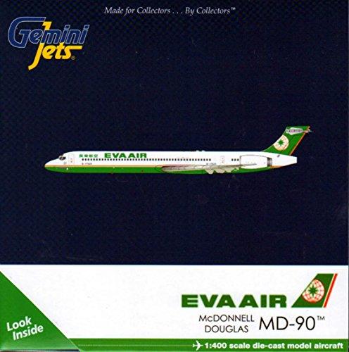 GEMGJ1513 1:400 Gemini Jets Eva Air McDonnell Douglas MD-90 Reg #B-17925 (pre-painted/pre-built) (Eva Air Model compare prices)