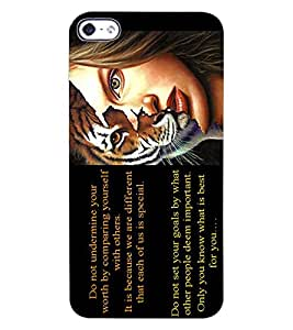 ColourCraft Beautiful Quote with Image Design Back Case Cover for APPLE IPHONE 4