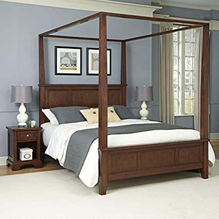 Home Styles Furniture 5529-6102 Chesapeake Canopy Bed and Two Night Stands, King