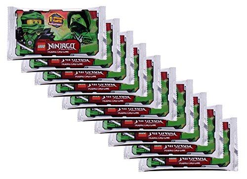 Lego 910722B - Ninjago TC Sammelkarten Booster, 10-er Set, bunt