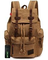 EcoCity Unisex Vintage Canvas Laptop Rucksack Backpack School Bags