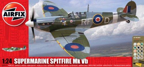 airfix-a50141-battle-of-britain-memorial-flight-supermarine-spitfire-mkvb-124-scale-plastic-model-gi
